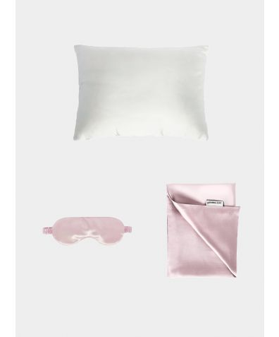 Silk Travel Set - Blush Pink