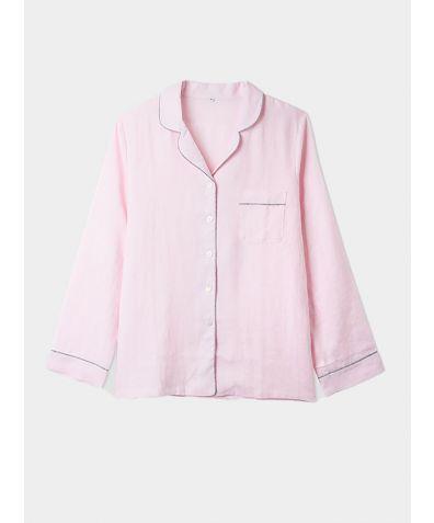 Linen Nightshirt - Blush Pink