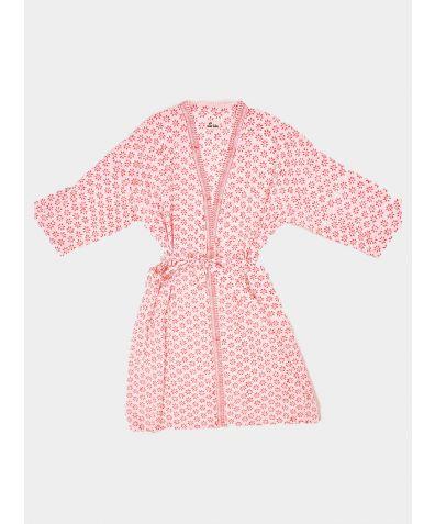Block Printed Cotton Robe - Kavya