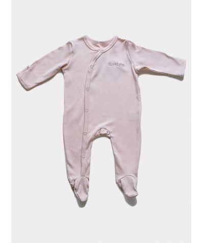 Organic Cotton Baby Sleepsuit - Pink