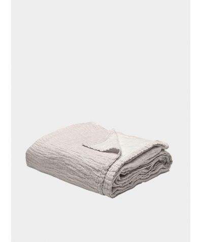Linen & Cotton Throw - Rose