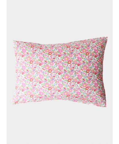 Liberty Print Pillowcase - Betsy Fuchsia