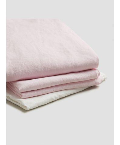 Natural French Flax Linen Basic Bundle - Blush