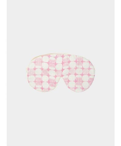 Mulberry Silk Eye Mask & Bag - Jaipur Pink