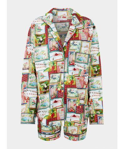 Women's Organic Cotton Pyjama Short Set - Pitanga