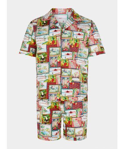 Men's Organic Cotton Pyjama Short Set - Pitanga