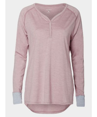 Women's Nattwarm® Sleep Tech Long Sleeve V-Neck Top - Pink
