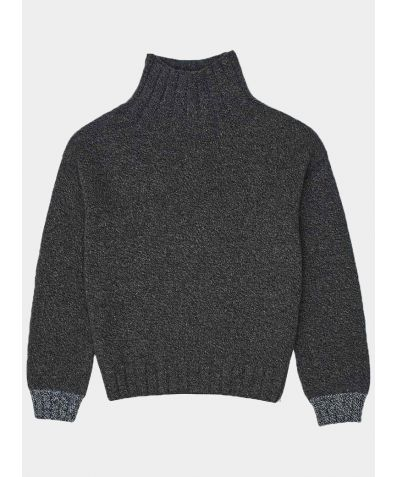 Thame Lambswool Turtle Neck Jumper - Charcoal
