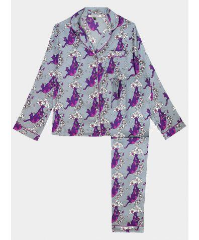 Women's Satin Pyjama Trouser Set - Lily Puma