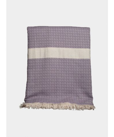 Henham Cotton Bed Throw - Mink