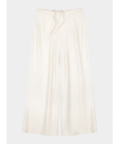 Mulberry Silk Lounge Trousers - Ivory