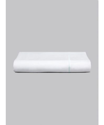 Estudo 600 Thread Count Cotton Flat Sheet - Green