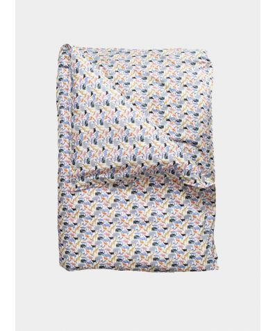 Liberty Print Bedding Set - Queue for the Zoo Yellow