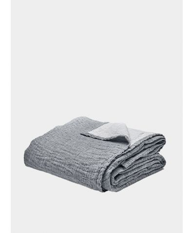 Linen & Cotton Throw - Ink