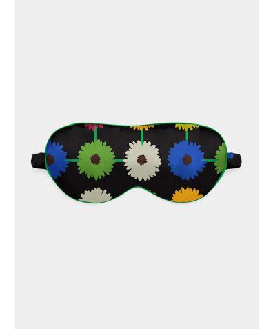 Silk Eye Mask - Multi Bloom Dark