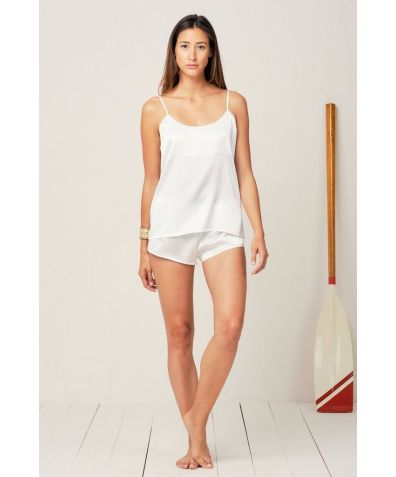 Thera Cami Pyjama Set - Moonlight White