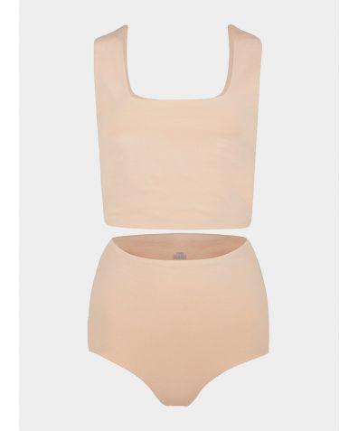 Rae Matching Organic Cotton Short Set - Sand
