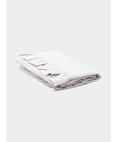 Malmo 200 Thread Count Cotton Ruffle Pillowcase - Silver Grey