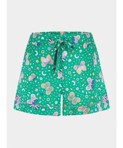 Women's Silk Pyjama Short - Rosie Rainforest Butterfly