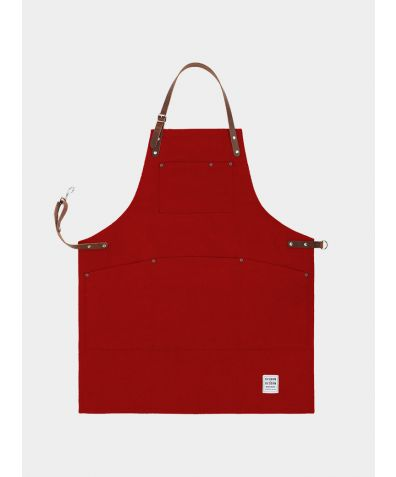 Original Apron with Leather - Factory Red