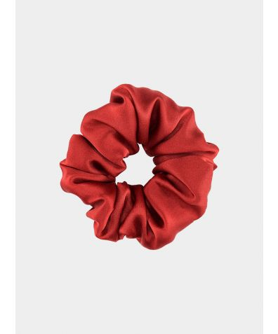 Silk Scrunchie - Red Rose