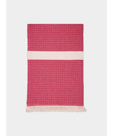 Henham Cotton Bed Throw - Fuchsia