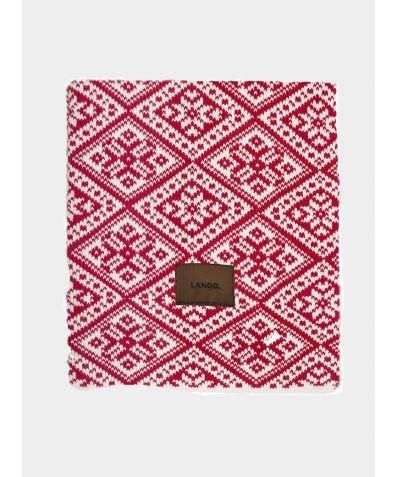 Wool Blanket - Red White