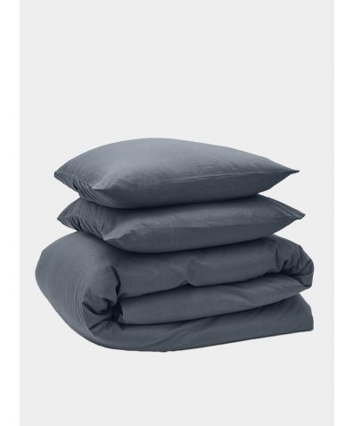 Relaxed 300 Thread Count Cotton Bedding Bundle - Ink