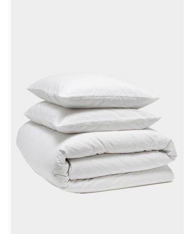 Relaxed 300 Thread Count Cotton Bedding Bundle - Snow
