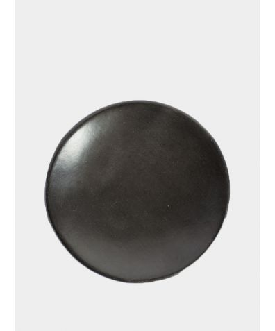 Beeswax Dinner Plate - Black Clay (2 Pieces)