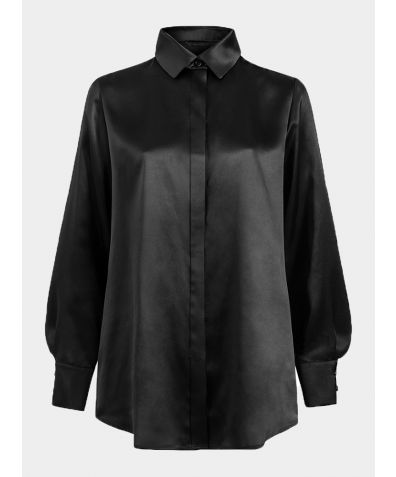 Rita Silk Shirt - Black