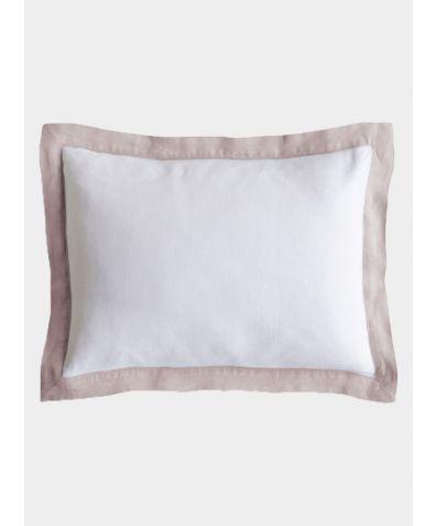 Linen Breakfast Pillow - Rose
