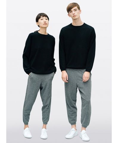 Unisex Cashmere Travel Trousers - Slate Grey