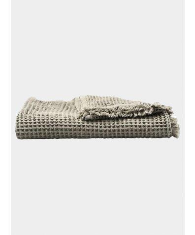 Waffle Cotton Blanket - Grey