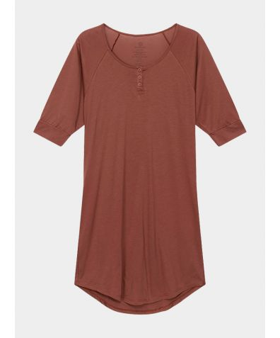 Women's Everyday Organic Pima Cotton Nightgown - Rust