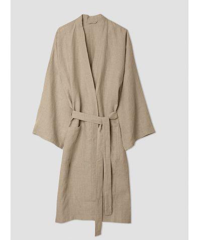Linen Robe - Oatmeal