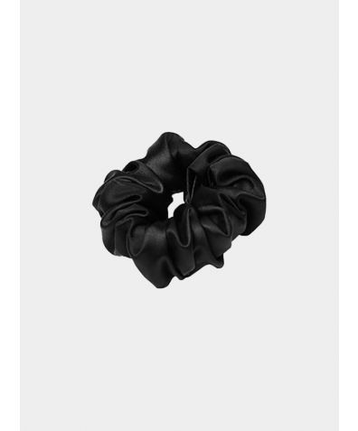 Trish Silk Scrunchie - Black
