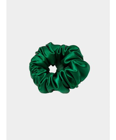 Trish Silk Scrunchie - Green