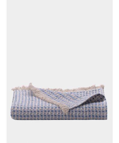 Nida Linen Throw -  Sea Blue