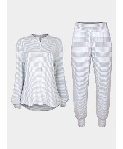 Seafoam Grey Stripe Trouser - Set/Separate