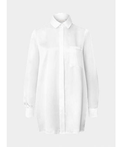 Coco Silk Bridal Shirt - White