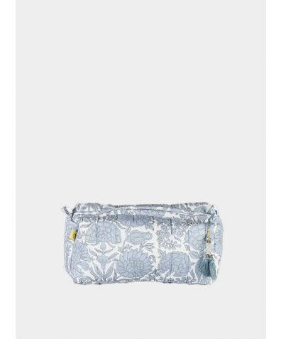 Amritsar Floral Make Up Bag - Chambray