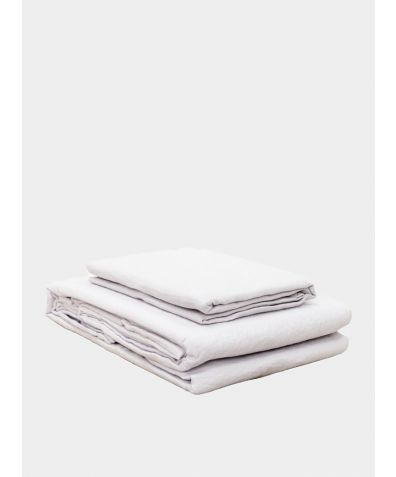 Lisbon Linen Duvet Cover - Silver Grey