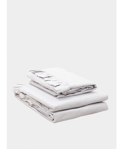 Malmo Ruffle Cotton Duvet Cover - Silver Grey