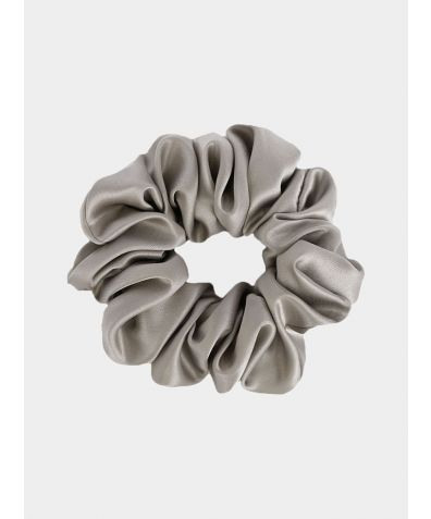 Silk Scrunchie - Silver Grey