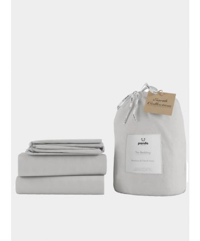 Bamboo & Linen Bed Set - Silver Lining Grey