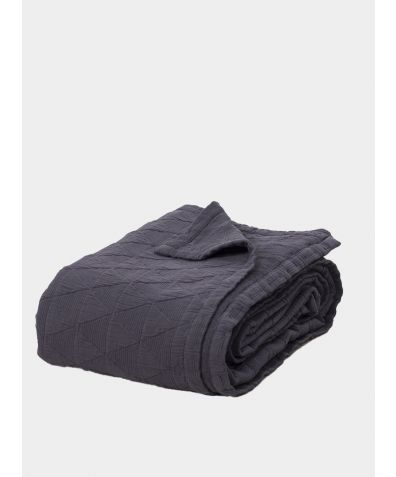 Stockholm Cotton Bedspread - Slate Grey