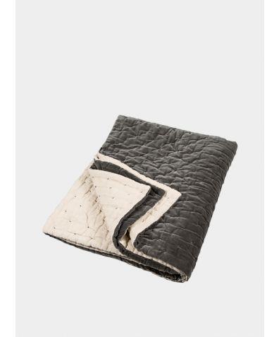 Velvet Linen Bedspread - Slate