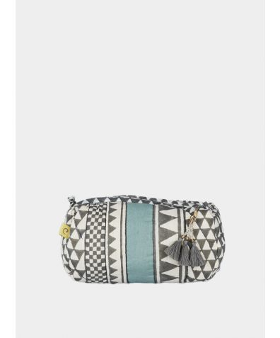 Sankari Geometric Make Up Bag - Smokey Grey
