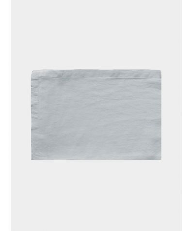 Linen Flat Sheet - Moustier Duck Egg